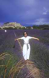 The exilarating feeling of being surrounded by fields of lavender. An ancient chateau overlooking all in the background